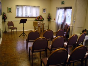 St Neots funeral ceremony room