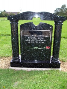 headstones, plaques and memorials